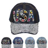 24 Units of USA CAP - Hats With Sayings