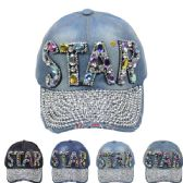 """24 Units of """"STAR"""" Cap - Hats With Sayings"""