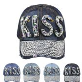"""24 Units of """" KISS"""" Cap - Hats With Sayings"""