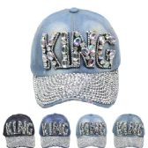 """24 Units of """"KING"""" Printed Cap - Hats With Sayings"""