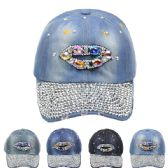 24 Units of CAP WITH LIPS PRINT - Hats With Sayings