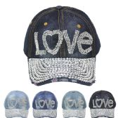 """24 Units of """"LOVE"""" CAP - Hats With Sayings"""