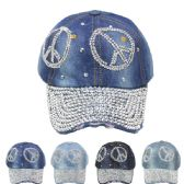 24 Units of PEACE SIGN CAP - Hats With Sayings