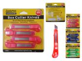 96 Units of 4 Piece Knife Utility Set - KNIFES/CUTTERS/BLADES