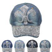 24 Units of FLEUR DE LIS CAP - Hats With Sayings