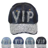 """24 Units of """"VIP"""" Printed Cap - Hats With Sayings"""