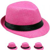 24 Units of KID FEDORA HAT IN PINK - Fedoras, Driver Caps & Visor