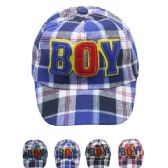 """72 Units of """"BOY"""" KID SUMMER HAT - Hats With Sayings"""