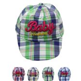"""72 Units of """"Baby"""" KID SUMMER HAT IN ASSORTED COLORS - Hats With Sayings"""