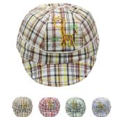 72 Units of KID SUMMER HAT WITH GIRAFFE IN ASSORTED COLORS