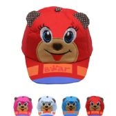 72 Units of FUNNY BEAR KID SUMMER HAT, ASSORTED COLORS
