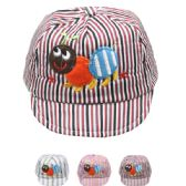 72 Units of KID SUMMER HAT WITH ANT IN ASSORTED COLORS - Kids Baseball Caps