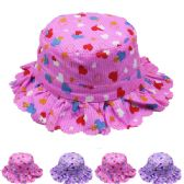 72 Units of KIDS' HEART PRINTED SUMMER HAT - Bucket Hats