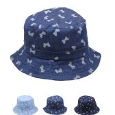 72 Units of KIDS BOW TIE SUMMER HAT - Bucket Hats