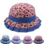 72 Units of KIDS DOTTED SUMMER HAT - Bucket Hats