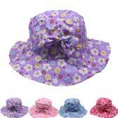 24 Units of KIDS FLORAL SUMMER HAT - Sun Hats