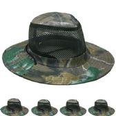 24 Units of Men's Netted Boonie Hat - Cowboy, Boonie Hat