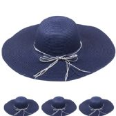 24 Units of WOMEN'S STRAW SUMMER HAT IN BLUE - Sun Hats