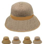 24 Units of WOMEN'S STRAW SUMMER BUCKET HAT - Bucket Hats