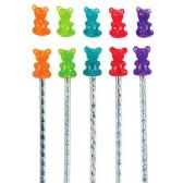 120 Units of Scented Gummy Bear Pencil Topper - Pencil Grippers / Toppers