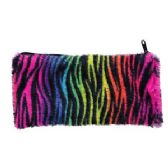 36 Units of Neon Rainbow Pencil Pouch - Storage Holders and Organizers