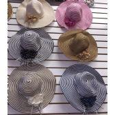 60 Units of Ladies Summer Large Brim Hat - Sun Hats