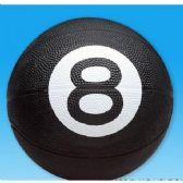 36 Units of 8-Ball Design Full Sized Rubber Basketball - Balls