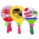 25 Units of Licensed Wooden Beach Paddle Sets with Cartoons