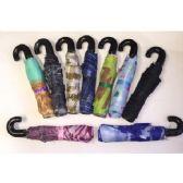 60 Units of Manual Open Umbrellas (Assorted printed and solid black) - Umbrellas & Rain Gear