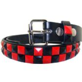 72 Units of Kids Studded Belts In Black And Red - Unisex Fashion Belts