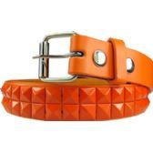 72 Units of Kids Studded Belts In Orange - Unisex Fashion Belts
