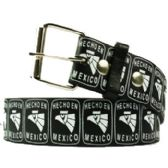 36 Units of Adult Unisex Hecho En Mexico Printed Belt - Unisex Fashion Belts