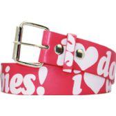 144 Units of I Love Doobies Printet Belt - Womens Belts