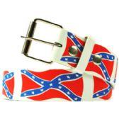 36 Units of Adult Unisex Rebel Flag Printed Belt - Uni Sex Fashion Belts