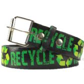 144 Units of Recycle Printed Belt - Unisex Fashion Belts