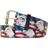 36 Units of Adult Unisex American Eagle Printed Belt - Uni Sex Fashion Belts