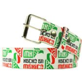 144 Units of Adult Unisex Hecho in Mexico Printed Belt - Unisex Fashion Belts