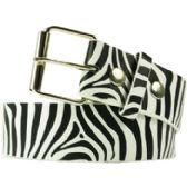 36 Units of Adult Unisex Zebra Printed Belt - Uni Sex Fashion Belts