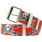 36 Units of Adult Unisex Rebel Printed Belt - Uni Sex Fashion Belts