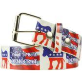 36 Units of Adult Unisex Democrat Printed Belt - Uni Sex Fashion Belts