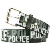 36 Units of Adult Unisex Police Printed Belt - Uni Sex Fashion Belts