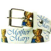 144 Units of Adult Unisex Mother Mary Printed Belt - Unisex Fashion Belts