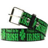 36 Units of Adult Unisex Proud To Be Irish - Uni Sex Fashion Belts