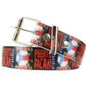 144 Units of Proud To Be A Puerto Rican Printed Belt - Unisex Fashion Belts