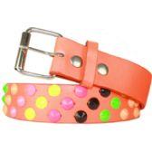 60 Units of Adult Unisex Studded Belt Pink - Unisex Fashion Belts