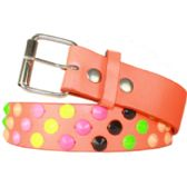 60 Units of Adult Unisex Studded Belt Pink - Uni Sex Fashion Belts