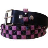 60 Units of KID SIZE Studded Belt Purple Black - Uni Sex Fashion Belts