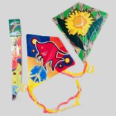 Wholesale 72 Units of Kites 24x26 Diamond Shape 6ast W/120ft String In 72pc Display