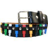 48 Units of Adult Unisex Multicolored Studded Belt - Uni Sex Fashion Belts