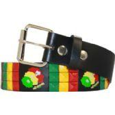 60 Units of Jamaican Tri Pyramid Studded belt - Unisex Fashion Belts